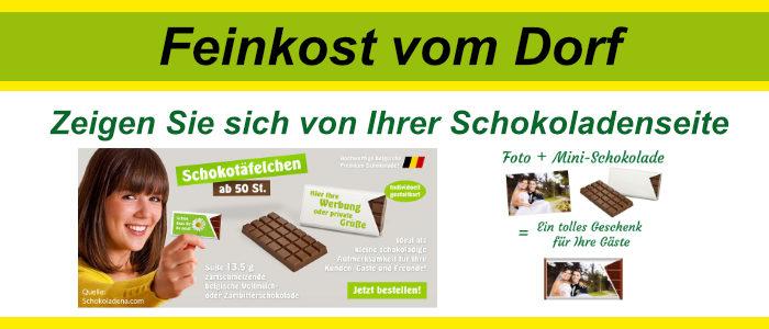 Grußschokoladen und Werbeschokoladen in Visitenkartengröße. Für Hochzeiten, Geburtstage, Taufe, Einschulung und zu Werbezwecken.